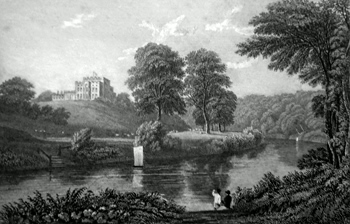 ANTIQUE PRINT: LAMBTON HALL DURHAM. THE SEAT OF LORD DURHAM.