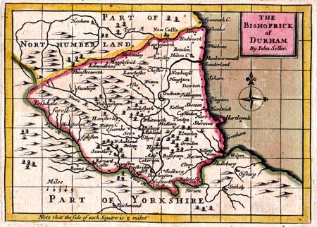 ANTIQUE MAPS AT ASH RARE BOOKS : DURHAM on