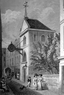 ANTIQUE PRINT: ST. MARTIN, ORGAR, MARTIN'S LANE, CANNON ST.