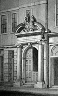 Antique print of Girdlers' Hall