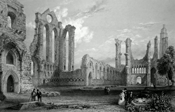 ANTIQUE PRINT: ABBEY OF ARBROATH.