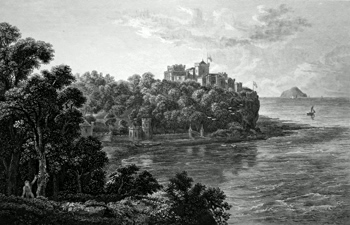 ANTIQUE PRINT: CULZEAN CASTLE. THE SEAT OF THE RIGHT HON.BLE THE EARL OF CASSILIS.