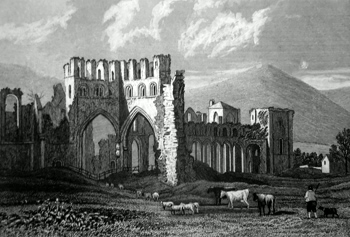 ANTIQUE PRINT: [LLANTHONY] LLANTHONEY ABBEY. MONMOUTHSHIRE.