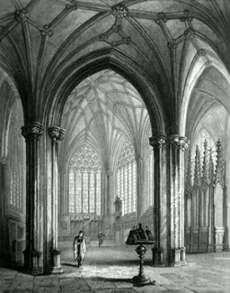ANTIQUE PRINT: WELLS CATHEDRAL. THE LADY CHAPEL.