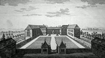 ANTIQUE PRINT: HARTLEBURY CASTLE, THE PALACE OF THE BISHOP OF WORCESTER.