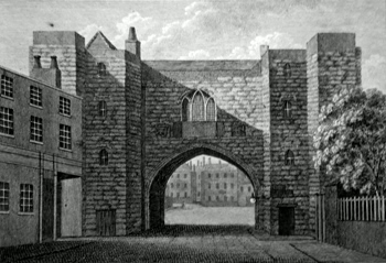 ANTIQUE PRINT: ST. JOHN'S GATE, IN CLERKENWELL, MIDDLESEX. PLATE 2.