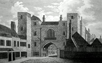 ANTIQUE PRINT: ST. JOHN'S GATE [CLERKENWELL] .