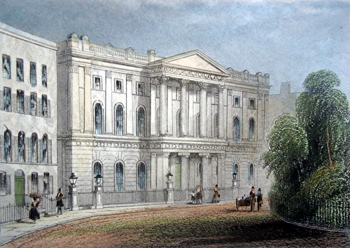 Antique print of the Finsbury Circus