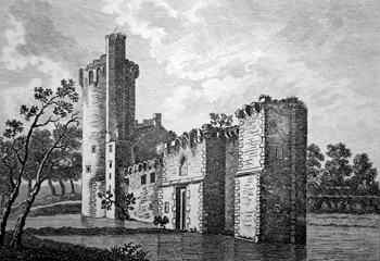 ANTIQUE PRINT: [CAISTER CASTLE] CASTOR HALL, NORFOLK. PL. 1.