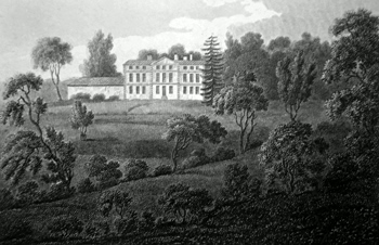 ANTIQUE PRINT: [COVENTRY] ALLESLY PARK : THE RESIDENCE OF LORD CLONMELL, WARWICKSHIRE.