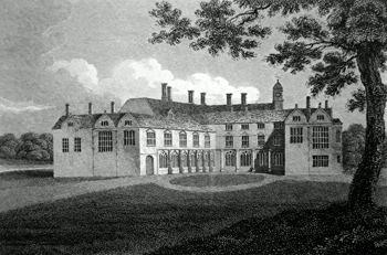 ANTIQUE PRINT: [COVENTRY] COMB ABBEY, WARWICKSHIRE.