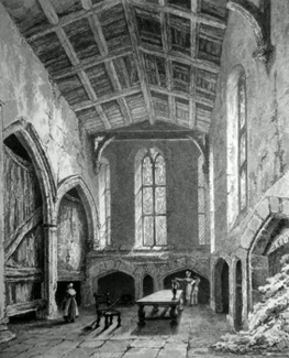ANTIQUE PRINT: KITCHEN, ST. MARY HALL. – COVENTRY.