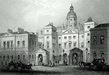 ANTIQUE PRINT: HORSE GUARDS.
