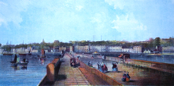 ANTIQUE PRINT: RYDE FROM THE PIER.
