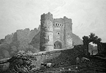 ANTIQUE PRINT: CARISBROOK CASTLE, ISLE OF WIGHT.