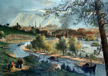 Antique print of Richmond, Virginia
