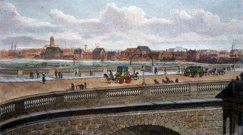 ANTIQUE PRINT: LONDON, FROM CHATHAM PLACE, BLACKFRIARS.