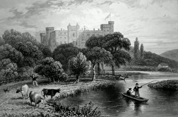 Antique print of Sussex