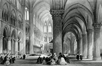 ANTIQUE PRINT: CATHEDRAL OF NOTRE DAME, PARIS.