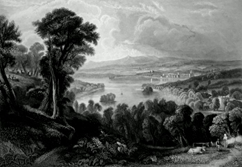 ANTIQUE PRINT: LOCH WINNOCH.