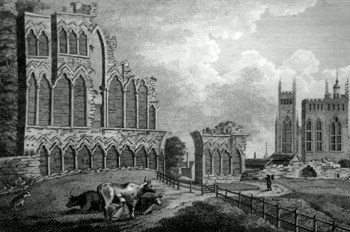 ANTIQUE PRINT: ST. MARY'S-ABBEY YORK.