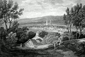 Antique print of Sheffield