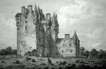 ANTIQUE PRINT: GLAMES-CASTLE, ANGUS-SHIRE.