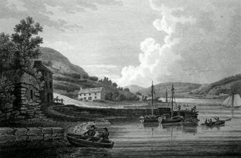 ANTIQUE PRINT: CHIEF-POINT, CO. WATERFORD.