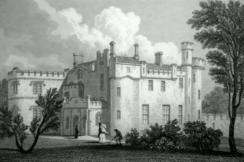 ANTIQUE PRINT: CORTACHY CASTLE, FORFARSHIRE.