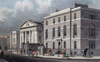 ANTIQUE PRINT: [MOORFIELDS EYE HOSPITAL] LONDON OPHTHALMIC INFIRMARY, &C. FINSBURY.