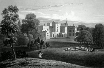 ANTIQUE PRINT: POWDERHAM CASTLE. DEVONSHIRE. THE SEAT OF LORD COURTENAY.