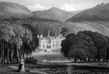 ANTIQUE PRINT: ENCOMBE HOUSE, DORSETSHIRE.