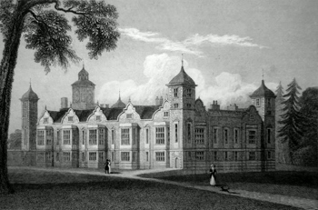 ANTIQUE PRINT: BLICKLING HALL, GENERAL VIEW.
