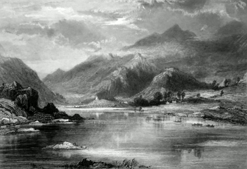 ANTIQUE PRINT: LLANBERIS.