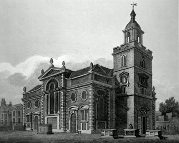 ANTIQUE PRINT: ST. MARY WHITECHAPEL.