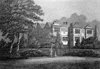ANTIQUE PRINT: WYER HALL, MIDDLESEX.