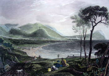 Antique print of Minehead