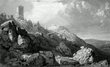 Antique print of Cornwall
