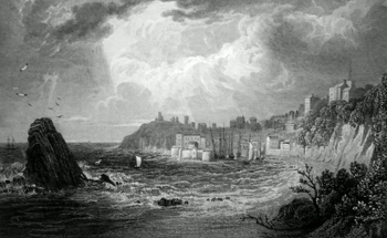 Antique print of Tenby