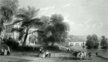 Antique print of Richmond, Surrey