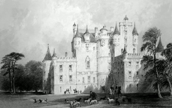 ANTIQUE PRINT: GLAMMIS CASTLE. (FORFARSHIRE.)