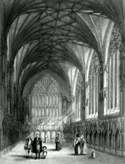 ANTIQUE PRINT: ELY CATHEDRAL. THE LADY CHAPEL.