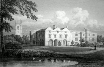 Antique print of Huntingdonshire