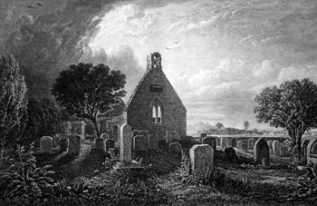 ANTIQUE PRINT: ALLOWAY KIRK.