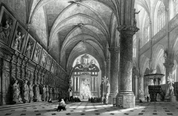 ANTIQUE PRINT: CHURCH OF ST. PAUL'S, ANTWERP.
