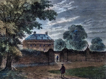 ANTIQUE PRINT: BALMES HOUSE IN 1750.