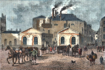 ANTIQUE PRINT: MESSRS. MEUX'S BREWERY, 1830.