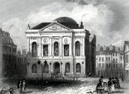 ANTIQUE PRINT: THE SESSIONS HOUSE, CLERKENWELL.