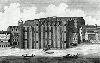 ANTIQUE PRINT: VIEW OF BAYNARD'S CASTLE.