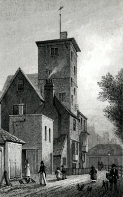 ANTIQUE PRINT: CANONBURY TOWER, ISLINGTON.